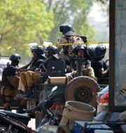 Soldater i huvudstaden Ouagadougou i Burkina Faso AHMED OUOBA / AFP