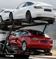 Tesla-bilar. Arkivbild. Ben Margot / TT NYHETSBYRÅN