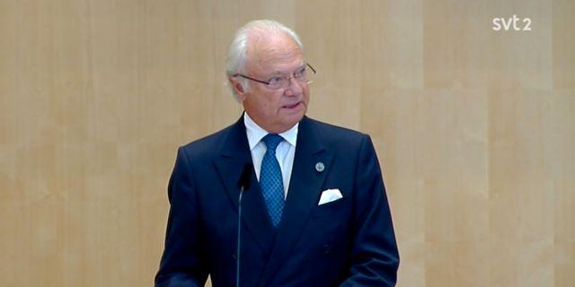 Kung Carl XVI Gustaf.  SVT