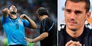 Luis Suarez och Antoine Griezmann. TT