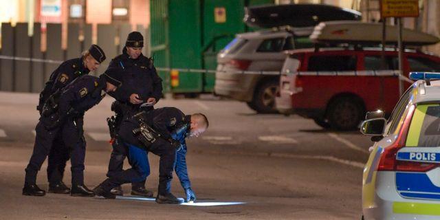 Polisutredning efter skottlossning i Stockholm. Arkivbild. Janerik Henriksson/TT / TT NYHETSBYRÅN