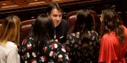 Conte i parlamentet på måndagen. Gregorio Borgia / TT NYHETSBYRÅN