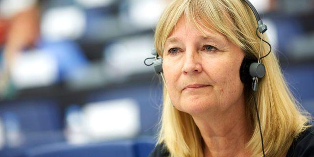 Marita Ulvskog (S) i Europaparlamentet i Strasbourg. FREDRIK PERSSON / TT / TT NYHETSBYRÅN