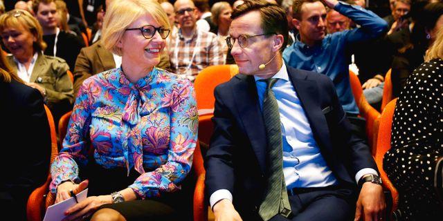 Elisabeth Svantesson och Ulf Kristersson. Linn Malmén/TT / TT NYHETSBYRÅN
