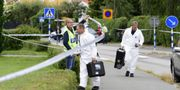 Avspärrningar vid brottsplatsen. Mikael Fritzon/TT / TT NYHETSBYRÅN