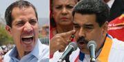 Guaidó och Maduro. TT