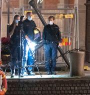 Brottsplatsundersökning efter sprängdådet i Landskrona. Johan Nilsson/TT / TT NYHETSBYRÅN