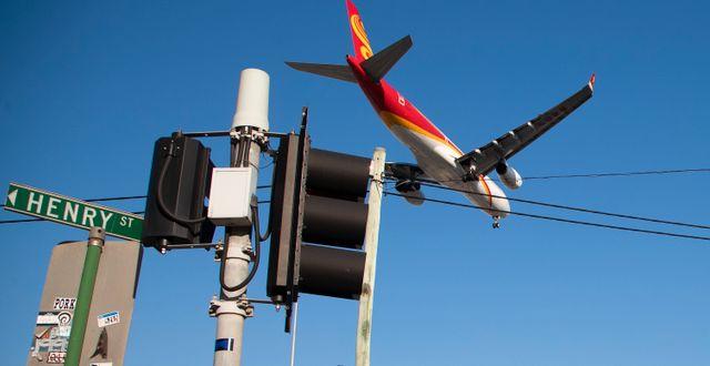 Flygplan över Sydney. Mark Baker / TT NYHETSBYRÅN