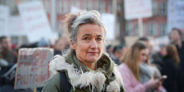 Maria Persdotter, ordförande i Riksförbundet för Rörelsehindrade Barn och Ungdomar. Janerik Henriksson/TT / TT NYHETSBYRÅN