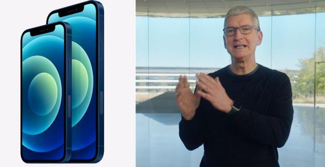 Iphone 12 och Iphone 12 Mini. Apple/Skärmdump