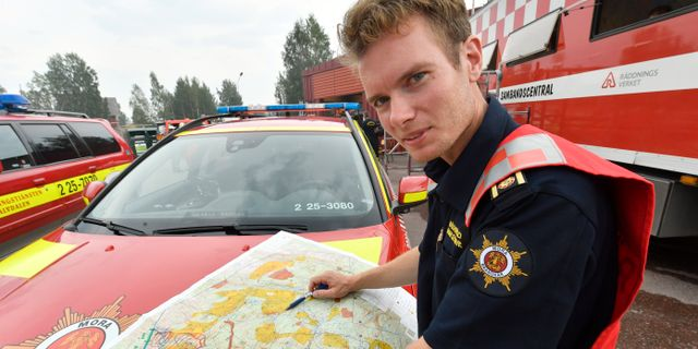 Räddningsledaren Johan Szymanski. Nisse Schmidt/TT / TT NYHETSBYRÅN