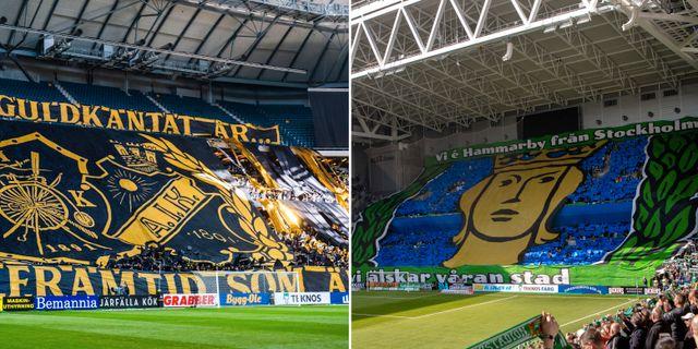 AIK-supportrar/Hammarby-supportrar. Bildbyrån