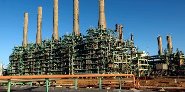 Oljeraffineri i Libyen.  ABDULLAH DOMA / AFP