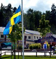 Flaggan vajar på halv stång efter dödsolyckan 2012. Arkivbild. Tomas Oneborg / SvD / TT / TT NYHETSBYRÅN