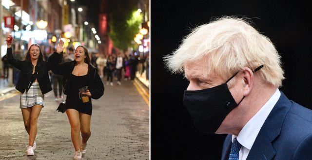 Folk på gatorna i Liverpool. Boris Johnson. TT