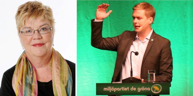 Lena Mellin och Gustav Fridolin. Aftonbladet och TT
