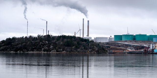 Illustrationsbild: Preems raffinaderi i Lysekil. Björn Larsson Rosvall/TT / TT NYHETSBYRÅN