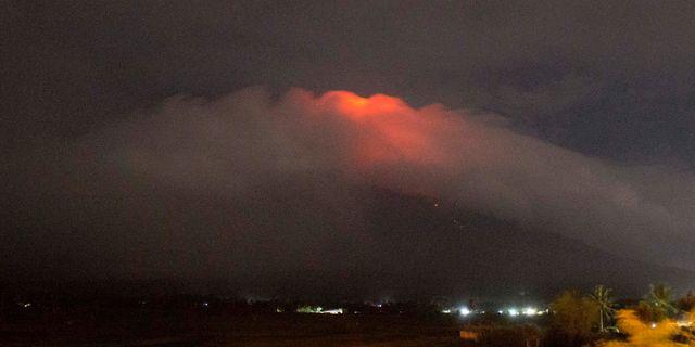 Vulkanen Mayon.  Earl Recamunda / TT NYHETSBYRÅN