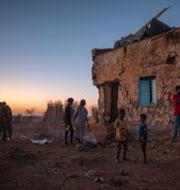 Arkivbild: Flyktingar från Tigray vid ett tillfälligt flyktingläger Qadarif, i östra Sudan (december 2020) Nariman El-Mofty / TT NYHETSBYRÅN