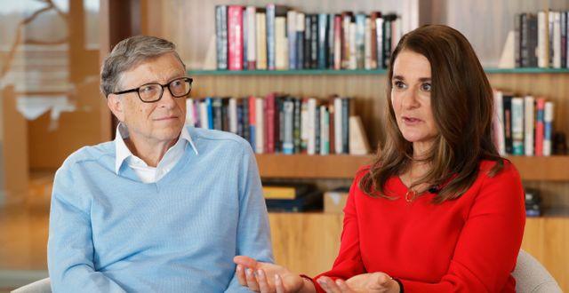 Bill och Melinda Gates. Ted S. Warren / TT NYHETSBYRÅN