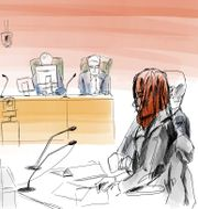 Illustration från tingsrätten. Johan Hallnäs/TT / TT NYHETSBYRÅN