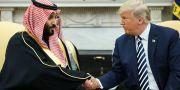 Kronprins Mohammed bin Salman och Donald Trump. MANDEL NGAN / AFP
