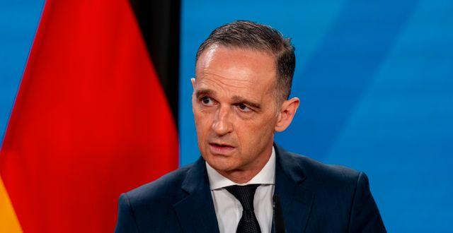 Tysklands utrikesminister Heiko Maas.  Andrew Harnik / TT NYHETSBYRÅN