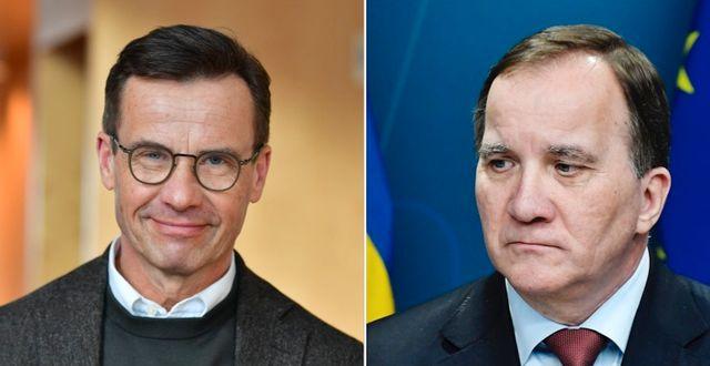 Ulf Kristersson (M) och Stefan Löfven (S) TT