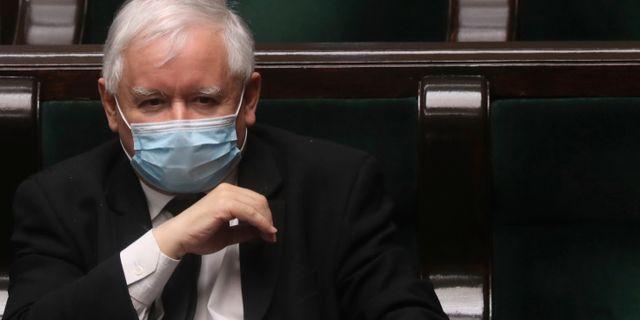 Lag och rättvisas ledare Jaroslaw Kaczynski, Czarek Sokolowski / TT NYHETSBYRÅN