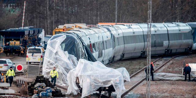 Bild tagen efter tågolyckan på Stora Bält-bron den 2 januari. Arkivbild. MADS CLAUS RASMUSSEN / Ritzau Scanpix