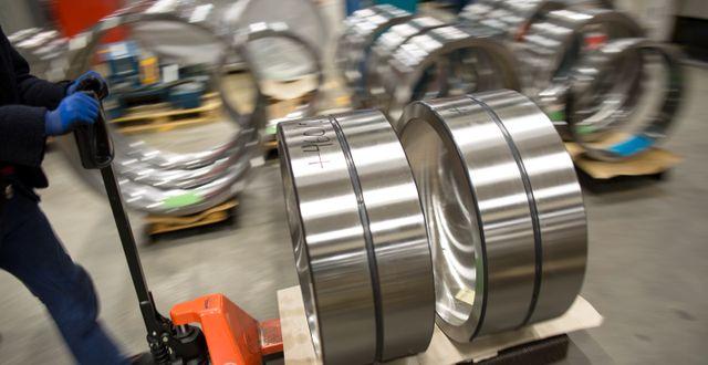 Tillverkning av lager vid SKF:s fabrik i Göteborg. Björn Larsson Rosvall/TT / TT NYHETSBYRÅN