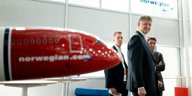 Norwegians koncernchef Jacob Schram kommenterar norska regeringens förslag till åtgärdspaket till flygbranschen. Fredrik Hagen / TT NYHETSBYRÅN