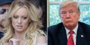 Stephanie Clifford och Donald Trump. TT
