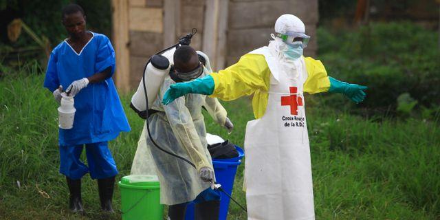 Räddningsarbetare i Kongo-Kinshasa. Al-hadji Kudra Maliro / TT NYHETSBYRÅN/ NTB Scanpix