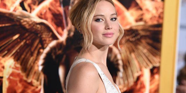 Jennifer Lawrence spelade Katniss Everdeen i filmerna. Jordan Strauss / TT / NTB Scanpix