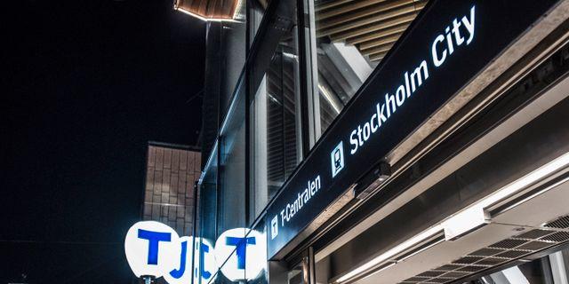 Ingång till T-centralen i Stockholm. Tomas Oneborg/SvD/TT / TT NYHETSBYRÅN
