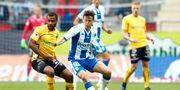 Elfsborgs Alex Dyer och IFK:s Mads Albæk. Thomas Johansson/TT / TT NYHETSBYRÅN