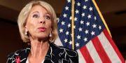 USA:s  utbildningsminister Betsy DeVos. Lynne Sladky / TT NYHETSBYRÅN