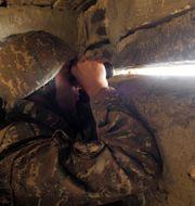 En armenisk soldat i Nagorno-Karabach.  TT NYHETSBYRÅN