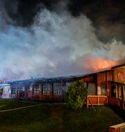 Branden i Orminge. Anders Wiklund/TT / TT NYHETSBYRÅN