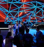 Arkivbild: Fords elbil Mustang Mach-E visades upp vid Auto China 2020 i Peking i september i fjol.  Ng Han Guan / TT NYHETSBYRÅN