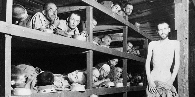 Koncentrationslägret Buchenwald den 4 april 1945. AP / TT NYHETSBYRÅN/ NTB Scanpix