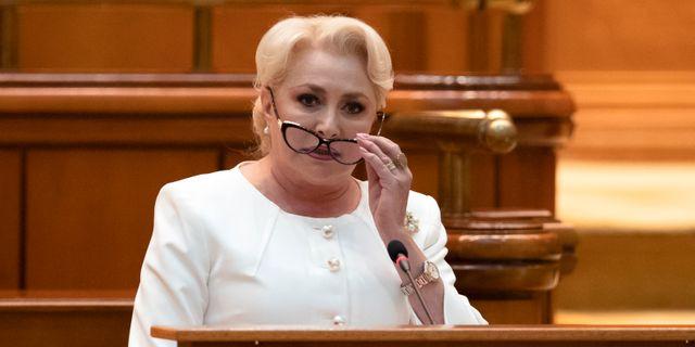 Rumäniens premiärminister Viorica Dancila. Vadim Ghirda / TT NYHETSBYRÅN/ NTB Scanpix