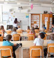 Klassrum med elever/Illustrationsbild Jonas Ekströmer/TT / TT NYHETSBYRÅN