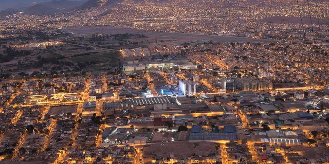 Flygbild över Perus huvudstad Lima. Rodrigo Abd / TT NYHETSBYRÅN