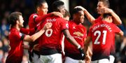 Manchester United-firande.  DYLAN MARTINEZ / BILDBYR N