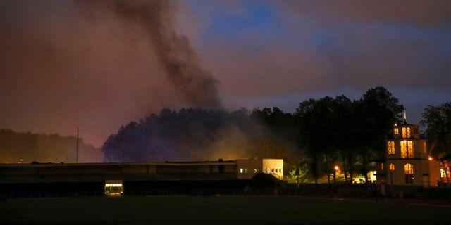 Bild från branden. Adam Ihse/TT / TT NYHETSBYRÅN