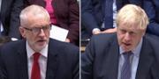 Jeremy Corbyn / Boris Johnson REUTERS TV / TT NYHETSBYRÅN