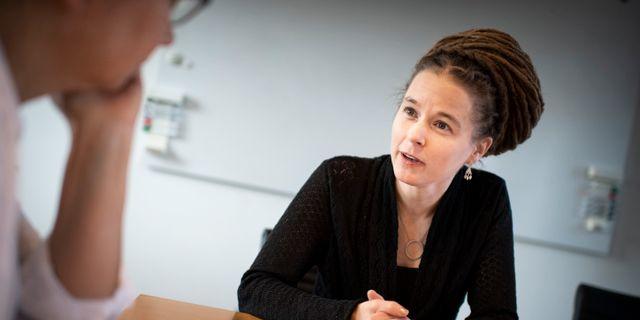 Amanda Lind.  Pontus Lundahl/TT / TT NYHETSBYRÅN