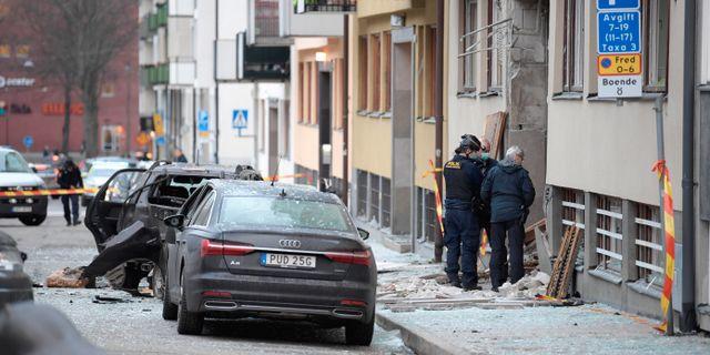 Explosionen i Stockholm 13 januari.  TT NEWS AGENCY / TT NYHETSBYRÅN